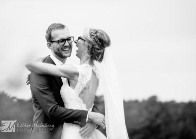 Trouwfoto's op de hei Bruidsfotograaf Gouda